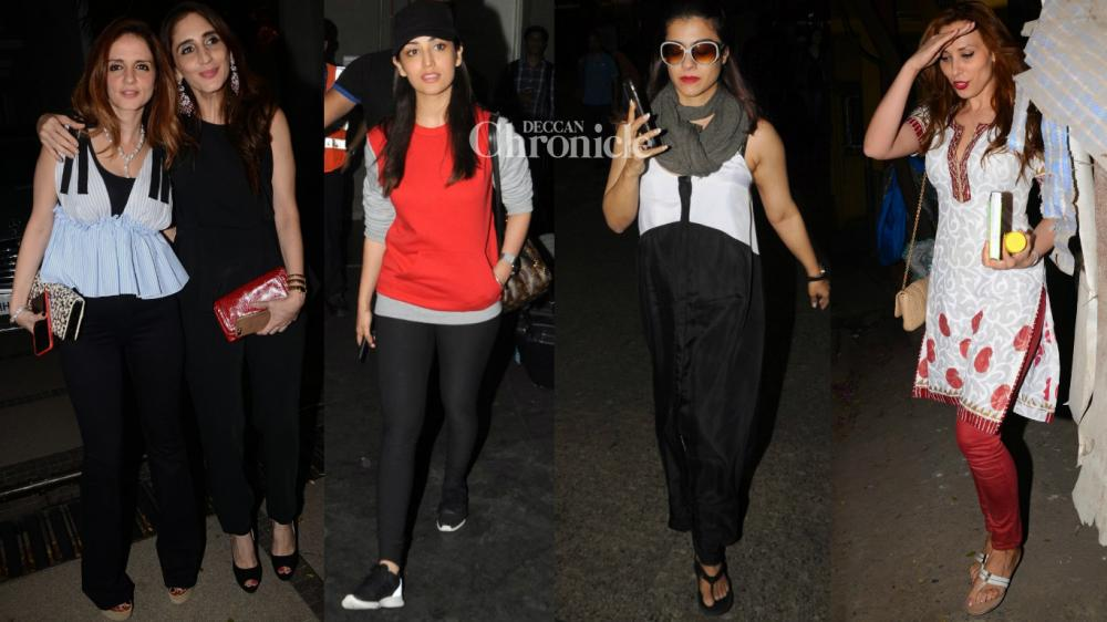 Numerous Bollywood stars were seen as they stepped out on Sunday. (Photo: Viral Bhayani)