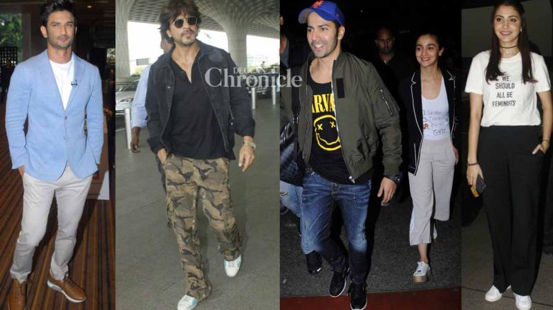 Bollywood stars were clicked by the shutterbugs at various locations in Mumbai on Tuesday. (Photo: Viral Bhayani)