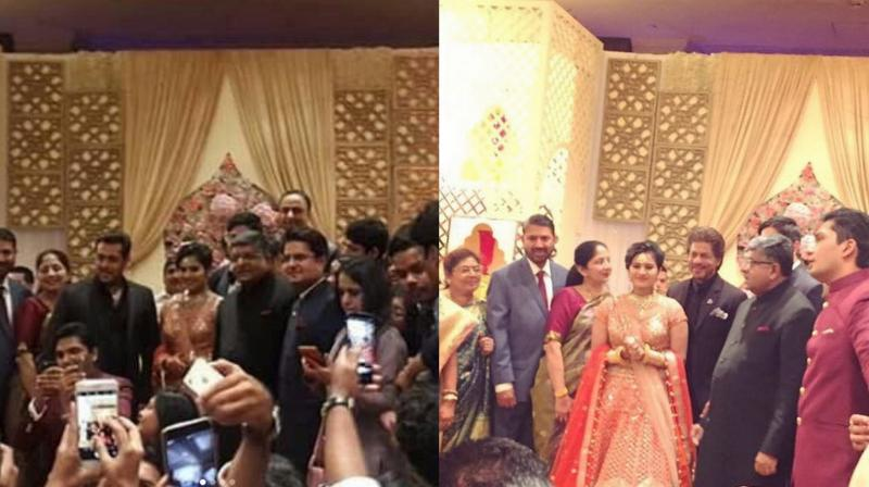 Pics: SRK, Salman attend wedding ceremony in Delhi; exit without meeting each other
