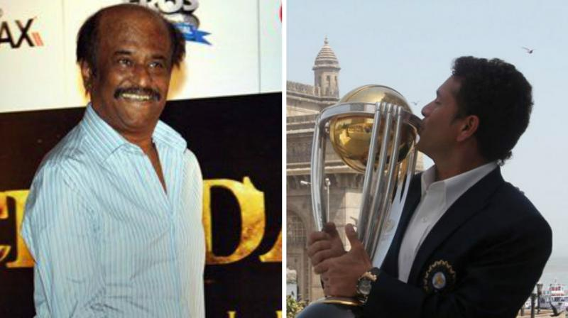 Rajnikanth had wished Sachin Tendulkar the best of fortunes with the upcoming biopic 'Sachin: A Billion Dreams'. (Photo: AFP)