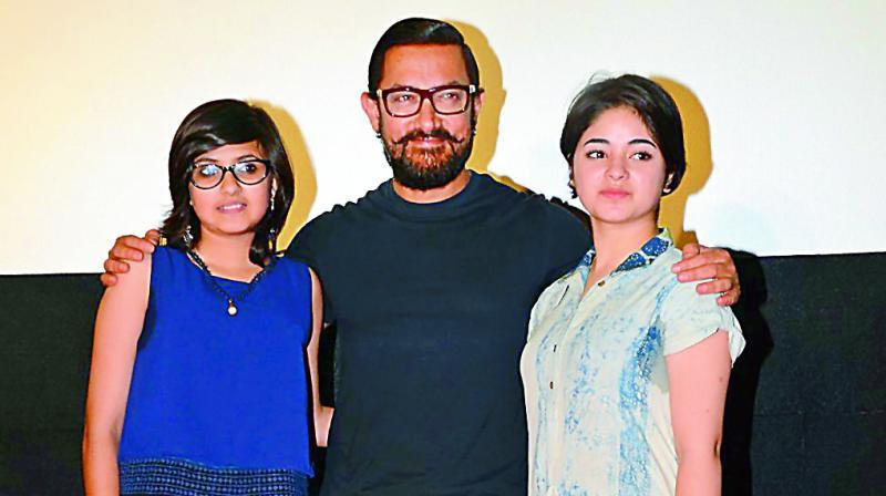 Suhani Bhatnagar, Aamir Khan and Zaira Wasim