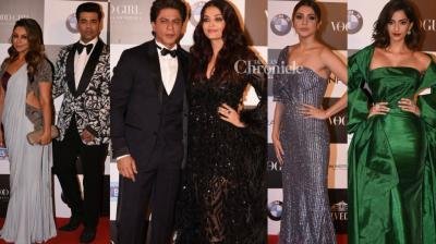 Bollywood stars dazzled on the red carpet as they posed for the cameras at the Vogue Women of the Year Awards 2017 in Mumbai on Sunday. (Photo: Viral Bhayani)