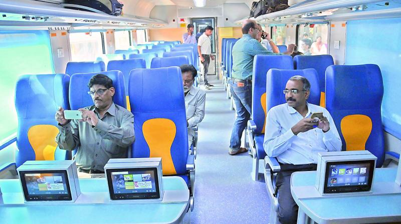 Passengers vandalise Tejas Express on its inaugural journey