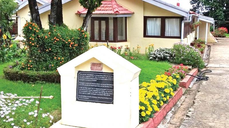 View of  Gulistan, now Birla House, at Pudumund in Ooty. (Photo: DC)