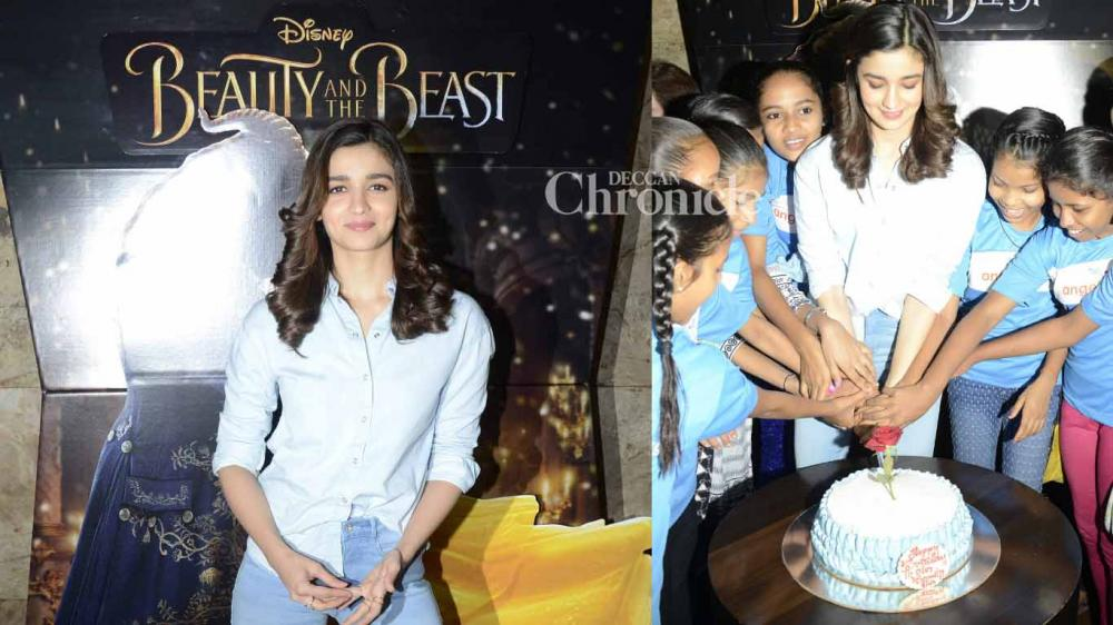 Alia Bhatt hosted a screening of upcoming Hollywood film 'Beauty and the Beast' for children from an NGO in Mumbai on Thursday. (Photo: Viral Bhayani)