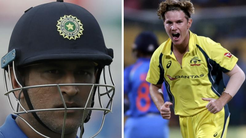 Adam Zampa, who is one of the most calm personalities in the Australian team, was pumped up and celebrating wildly while claiming the wickets of MS Dhoni and Kedar Jadhav in the second Twenty20 against India in Guwahati. (Photo: AP)