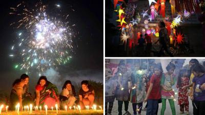 Known as the festival of lights, Deepavali or Diwali is celebrated on the day of 'amavasya' or new moon in the month of Karthik in Hindu calendar. The five-day celebrations start with Dhanteras and ends with Bhai Dooj. Here's a look at how people are celebrating across India.