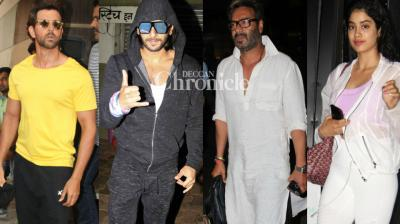 Bollywood celebrities stepped out for professional and personal reasons in Mumbai on Thursday and were snapped by shutterbugs. (Photo: Viral Bhayani)