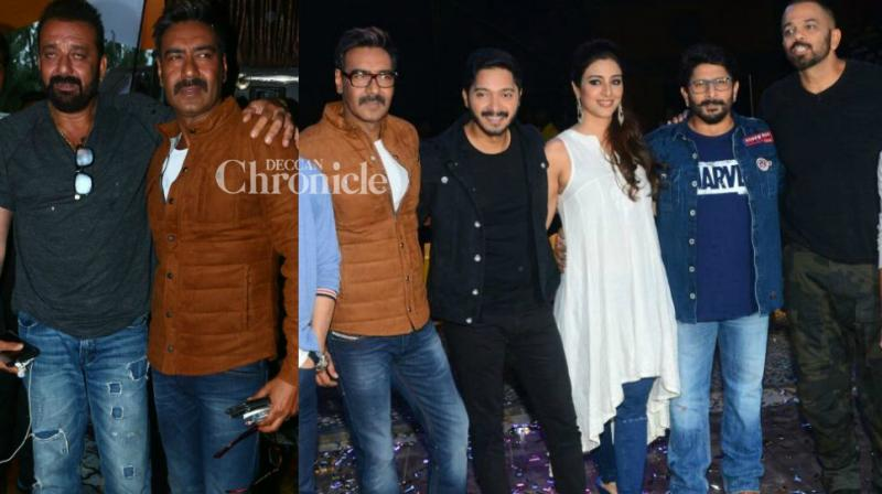 The team of upcoming comedy entertainer 'Golmaal Again' kicked off the promotions of the film by shooting for an episode on Rohit Shetty's reality show 'Khatron Ke Khiladi' in Mumbai on Tuesday. (Photo: Viral Bhayani)