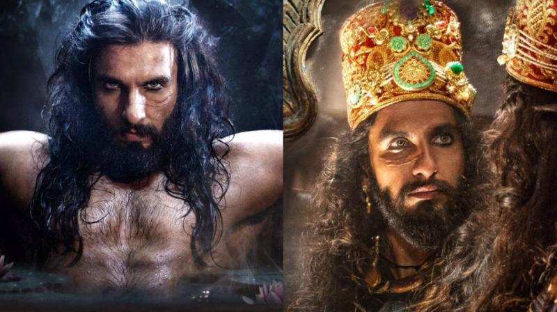 Ranveer Singh as Alauddin Khilji.