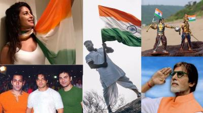 Bollywood celebrities took to Twitter to express their love for the nation on the occasion of Independence Day being celebrated on Tuesday.