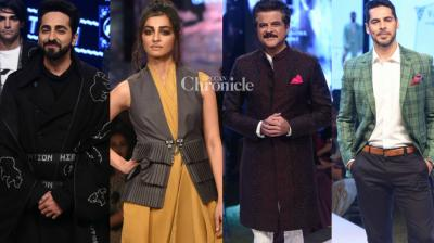 Bollywood stars turned up in their stylish best at they walked the ramp at the GQ Fashion Nights event held in Mumbai on Saturday. (Photo: Viral Bhayani)