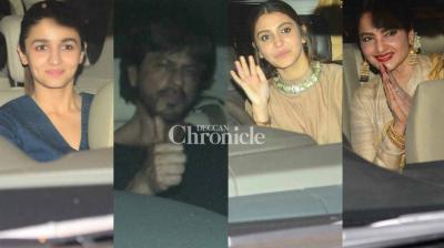 Several Bollywood stars were snapped at a screening of Anushka Sharma's 'Phillauri' held in Mumbai late Wednesday. (Photo: Viral Bhayani)