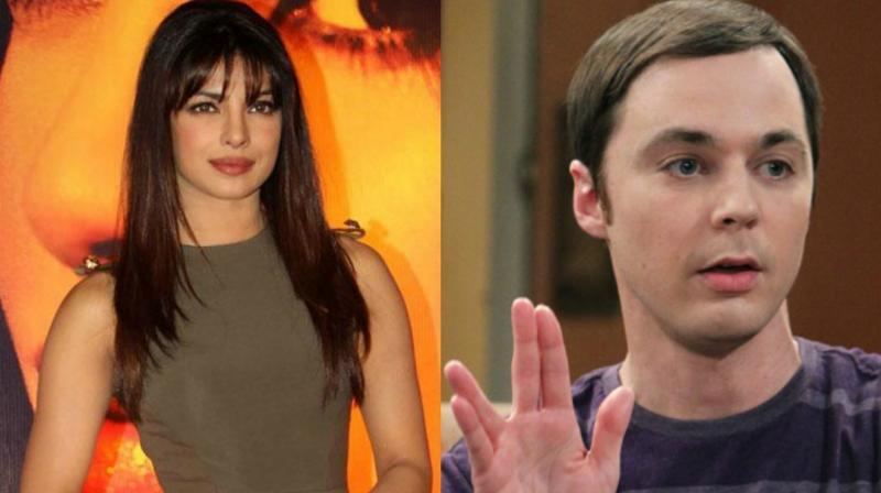 Priyanka Chopra and Jim Parsons in a still from 'The Big Bang Theory.'