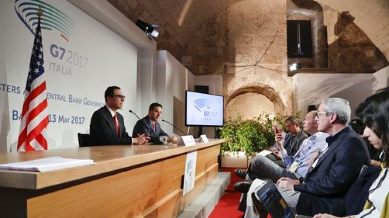 Italy's Padoan says G7 did not discuss trade protectionism