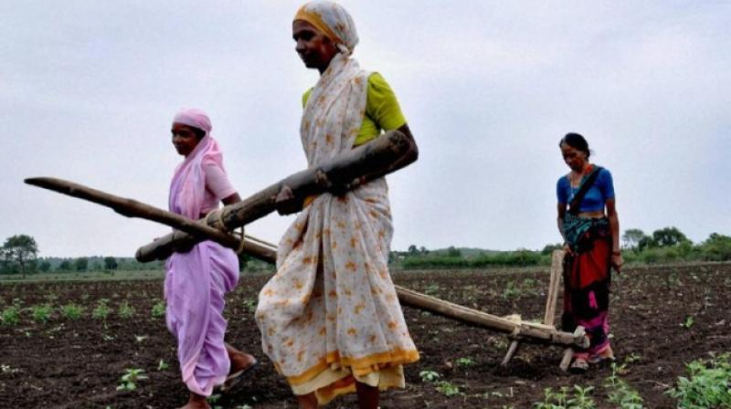 Economic Survey listed challenges to GDP growth like appreciation of the rupee, farm loan waivers, rising stress on balance sheets in power as well as telecom and problems from GST transition. Photo: PTI