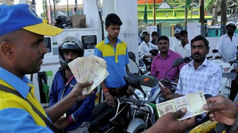 The Madhya Pradesh government on Saturday made it clear that petroleum products will not be brought under the ambit of GST. Photo: PTI