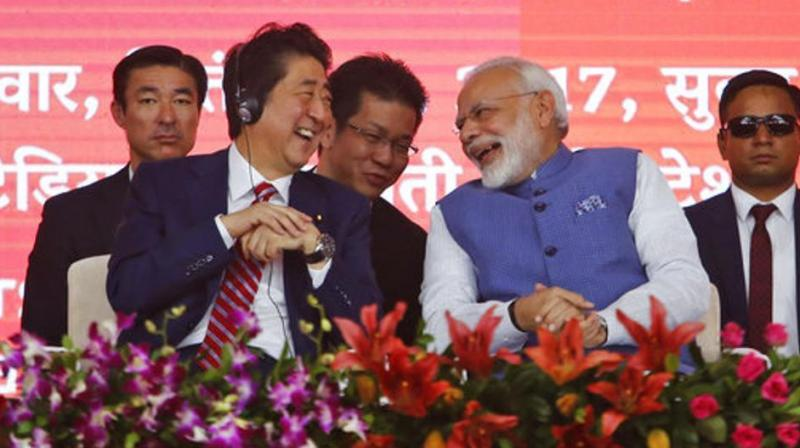 Both India and Japan stand to gain equally from the bullet train project. Photo: AP