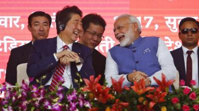 Both India and Japan stand to gain equally from the bullet train project. ( Photo: AP)