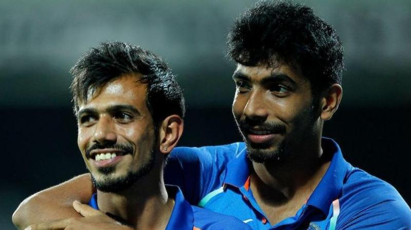 After Bhuvneshwar Kumar got rid of Martin Guptill in the first over, Jasprit Bumrah and Yuzvendra Chahal came up with fine spells to take away the game from the visitors. (Photo: BCCI)