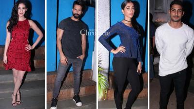 Shahid Kapoor, Pooja Hegde, Prateik Babbar and several other stars were seen at a bash thrown by fashion designer Kunal Rawal on Wednesday. (Photo: Viral Bhayani)