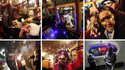 People in greater New Orleans braved the cold and rain Friday to mark the start of the Mardi Gras Season, standing in pre-dawn, windy lines to buy celebratory cakes and closing the evening on a rainy night with costumed street car rides. (Photo: AP)