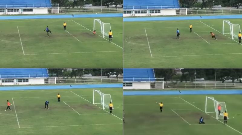 Watch: 'Magic' penalty leaves Thai goalie red-faced during U-18 cup match