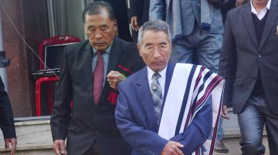 Newly elected Nagaland Chief Minister Shurhozelie Liezietsu after the sworn in ceremony at Kohima, Nagaland. (Photo: PTI)