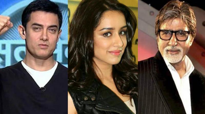 Image result for shraddha kapoor,thug of hindustan,aamir khan,amitabh bachchan,bollywood,