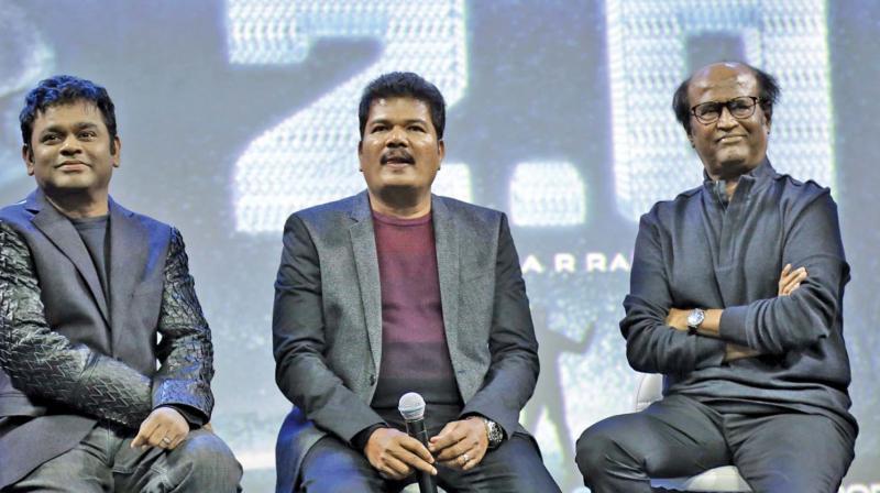 AR Rahman, Shankar and Rajinikanth