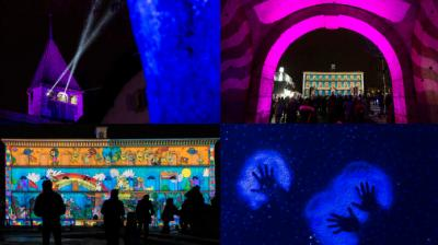 The Swtizerland Light Festival 2017 is in its second year is celebrated in the city of Morat by illuminating all the buildings and various props on the street. (Photo: AP)