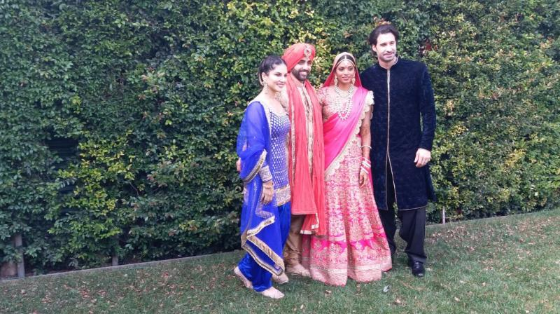Sunny Leone Traditional Look At Brother's Wedding; See Pictures Here