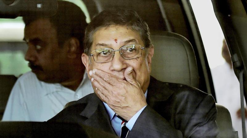 Although he has been disqualified from holding office in BCCI N Srinivasan has still been attending the BCCI SGMs as a TNCA nominee