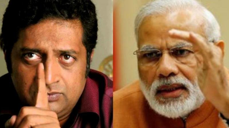 BJP's Karnataka unit hits out at actor Prakash Raj for criticising Prime Minister Narendra Modi's silence on those 'celebrating' the killing of journalist Gauri Lankesh.