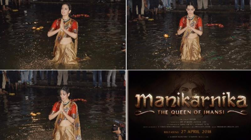 Kangana Ranaut Takes Dip In The Ganga, Performs Aarti In Varanasi