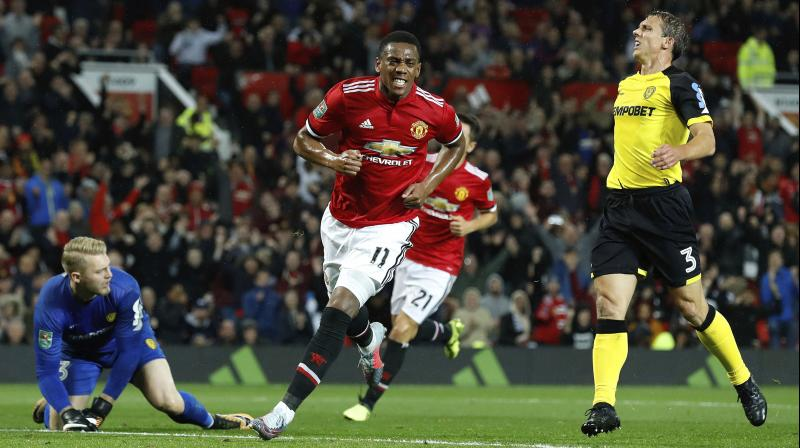 Twitter explodes as Anthony Martial and Marcus Rashford destroy Burton