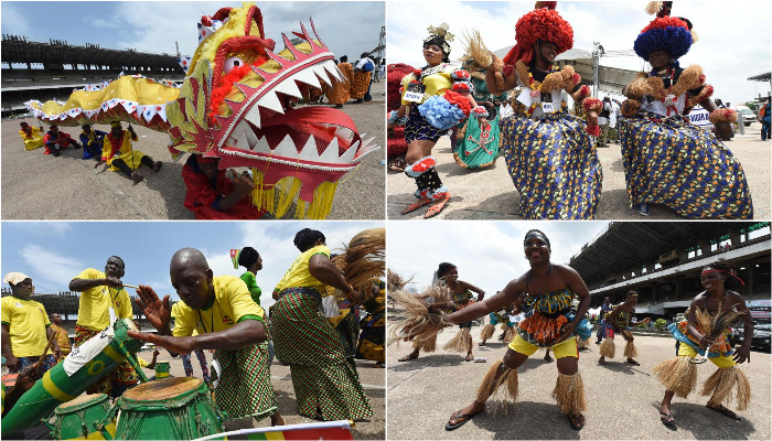 Locals celebrate month-long carnival in Nigeria's Lagos with song and dance as an expression of the rich Nigerian culture. (Photo: AFP)