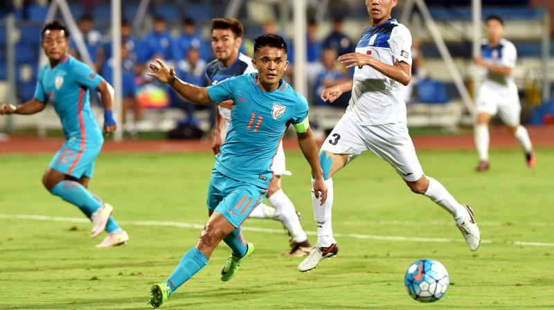 Sunil Chhetri surpasses Wayne Rooney, becomes 4th highest active int'l scorer