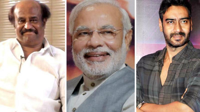 Rajinikanth, Ajay Devgn and several other celebrities took to Twitter to laud Modi's new move.
