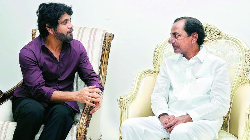 Why Nagarjuna Bros met Telangana CM KCR?