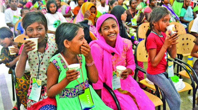 Rohingya refugees at an event in Loyola College in Chennai on Saturday. (Photo: DC)