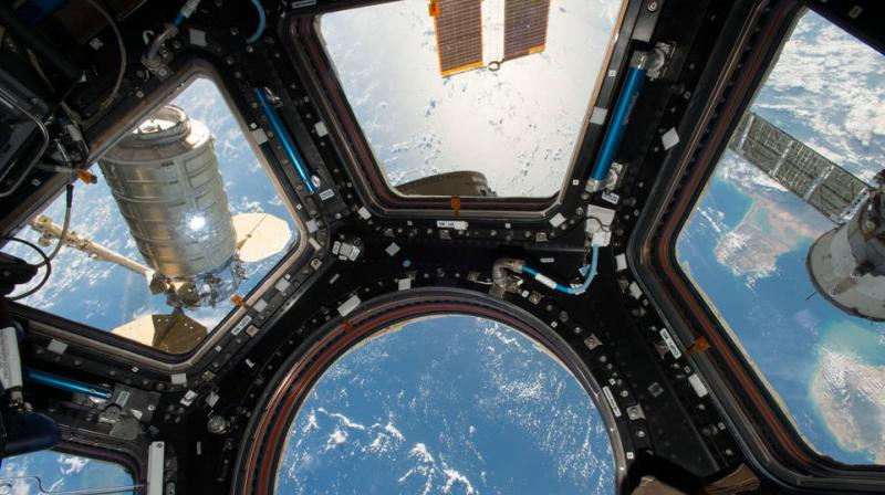 NASA experimentally sets fire inside cargo spaceship