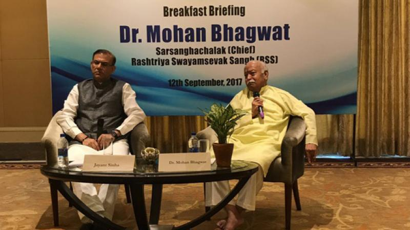 Read here to know what Mohan Bhagwat says on RSS controlling BJP