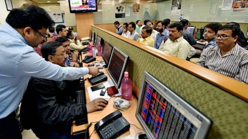 50-share NSE Nifty rallied 87 points or 0.87 per cent to close at 10,093.05, which is 44 points away from its record high of 10,137 hit on August 2. (Photo: AP)