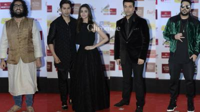 Numerous Bollywood celebrities were seen at the Mirchi Music Awards held in Mumbai on Saturday. (Photo: Viral Bhayani)