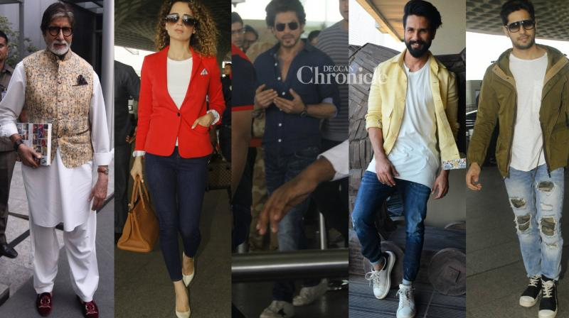 Bollywood stars were spotted by photographers at various locations on Saturday. (Photo: Viral Bhayani)