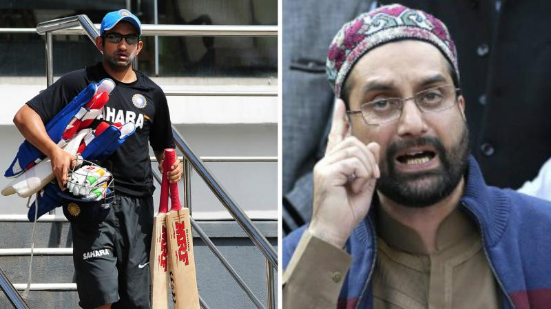 Mirwaiz hails Pak win, Gautam Gambhir says 'cross the border'