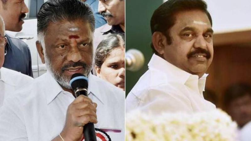 O Panneerselvam and Tamil Nadu Chief Minister Palanisamy. (Photos: PTI)