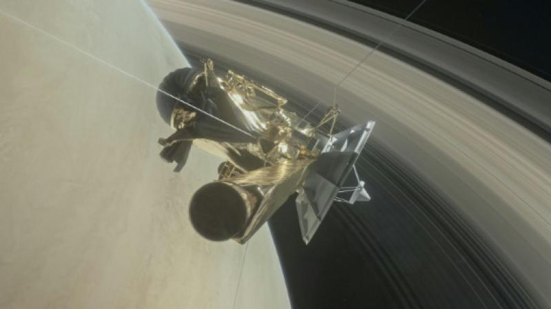Ground control was receiving all telemetry data 83 minutes later due to the massive distance of 1.5 billion kilometres between Earth and Saturn.
