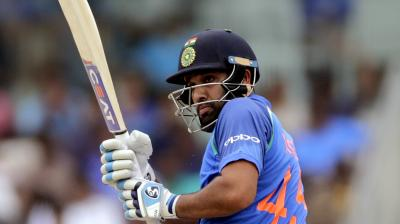 Rohit Sharma struck a formidable 141-run partnership with Ajinkya Rahane. (Photo: PTI)